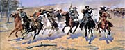 Frederic Remington A Dash For The Timber Panoramic canvas prints