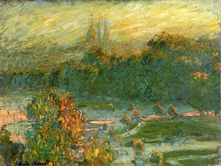 Claude Monet The Tuileries (study) stretched canvas art print