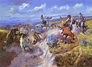 Charles Russell A Tight Dally And Loose Latigo canvas prints