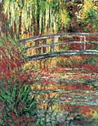 Claude Monet Water Garden And Japanese Footbridge canvas prints
