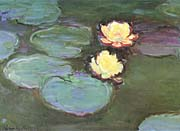 Claude Monet Green Water Lilies canvas prints