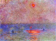 Claude Monet Waterloo Bridge, Sun through the Mist