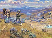 Charles Russell Buffalo Bill's Duel with Yellowhand