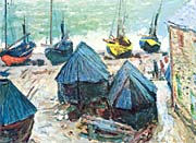 Claude Monet Boats In Winter Quarters canvas prints