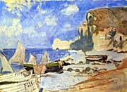 Claude Monet Fishing Boats, Etretat