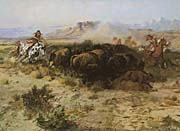 Charles Russell Buffalo Hunt No 26 canvas prints