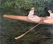 Claude Monet A Canoe On The Epte River canvas prints