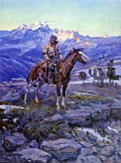 Charles Russell Free Trappers canvas prints