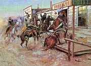 Charles Russell In Without Knocking canvas prints
