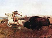 Charles Russell Indians Hunting Buffalo