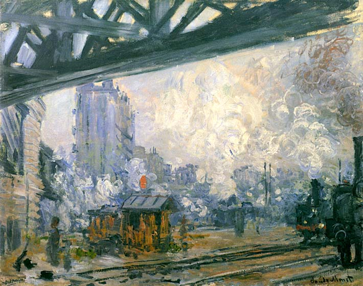 Claude Monet Outside View of the Normandy Line stretched canvas art print