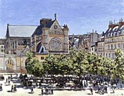 Claude Monet Saint Germain Lauxerrois canvas prints