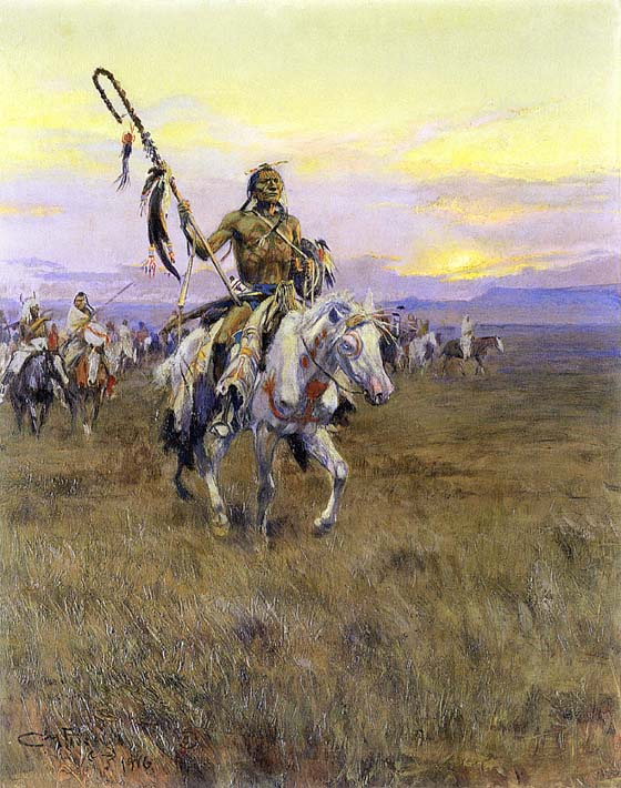 Charles Russell Medicine Man stretched canvas art print