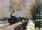 Claude Monet The Locomotive in Snow