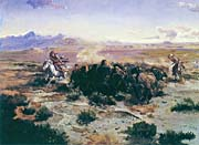 Charles Russell The Buffalo Hunt