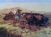 Charles Russell The Buffalo Hunt (Wild Meat for Wild Men)