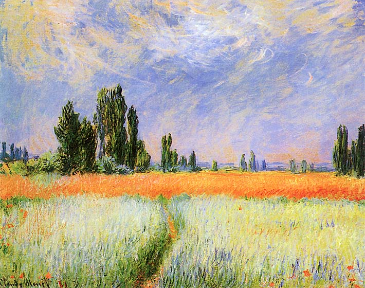 Claude Monet The Wheat Field stretched canvas art print