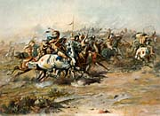 Charles Russell The Custer Fight canvas prints
