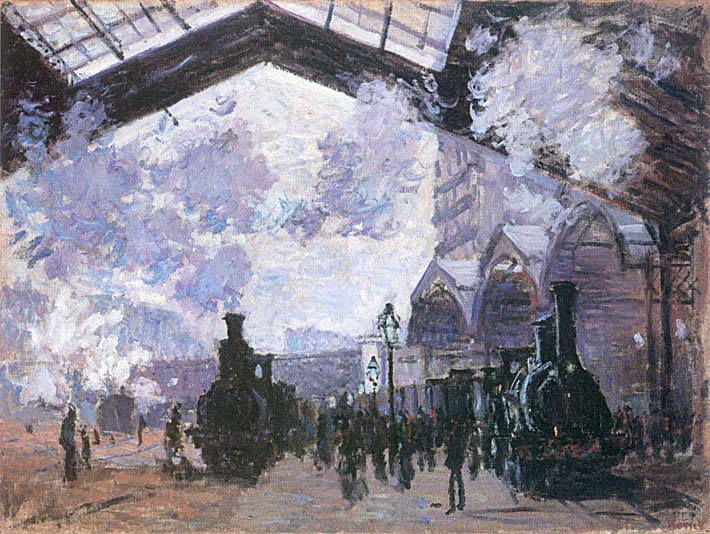 Claude Monet View of the Normandy Train Line stretched canvas art print