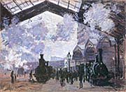 Claude Monet View of the Normandy Train Line