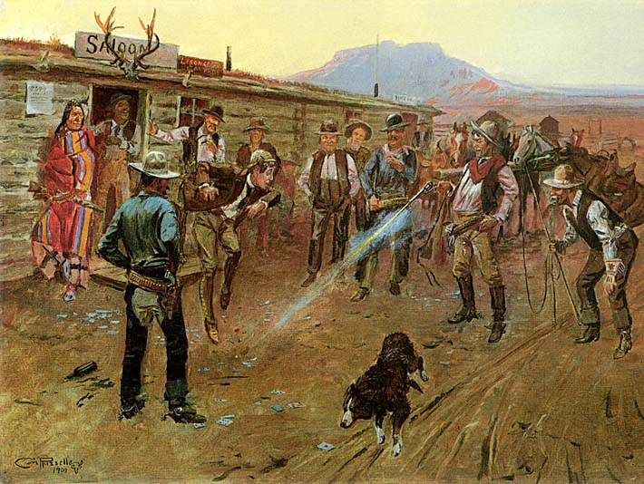 Charles Russell The Tenderfoot stretched canvas art print