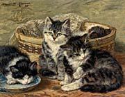 Henriette Ronner Knip Four Kittens