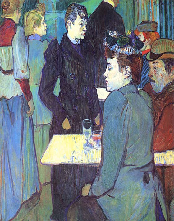 Henri de Toulouse Lautrec A Corner of the Moulin de la Galette stretched canvas art print