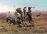 Charles Russell When Blackfeet And Sioux Meet canvas prints