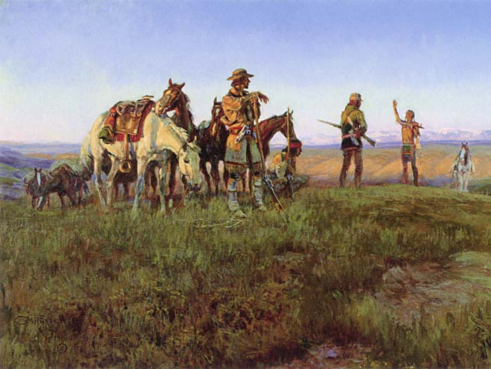 Charles Russell Wildman's Truce stretched canvas art print