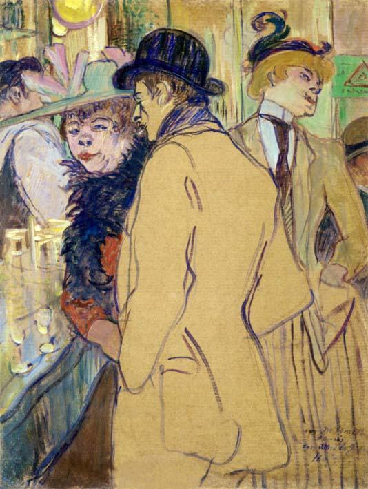 Henri de Toulouse Lautrec Alfred la Guigne stretched canvas art print