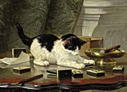 Henriette Ronner Knip Kitten