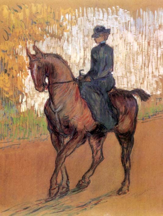 Henri de Toulouse Lautrec Amazone stretched canvas art print
