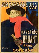Henri de Toulouse Lautrec Ambassadeurs Aristide Bruant
