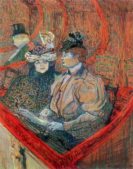 Henri de Toulouse Lautrec La Grande Loge stretched canvas art print