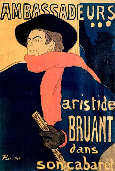 Henri de Toulouse Lautrec Les Ambassadeurs Aristide Bruant stretched canvas art print