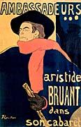 Henri de Toulouse Lautrec Les Ambassadeurs Aristide Bruant