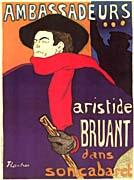 Henri de Toulouse Lautrec Aristide Bruant at les Ambassadeurs
