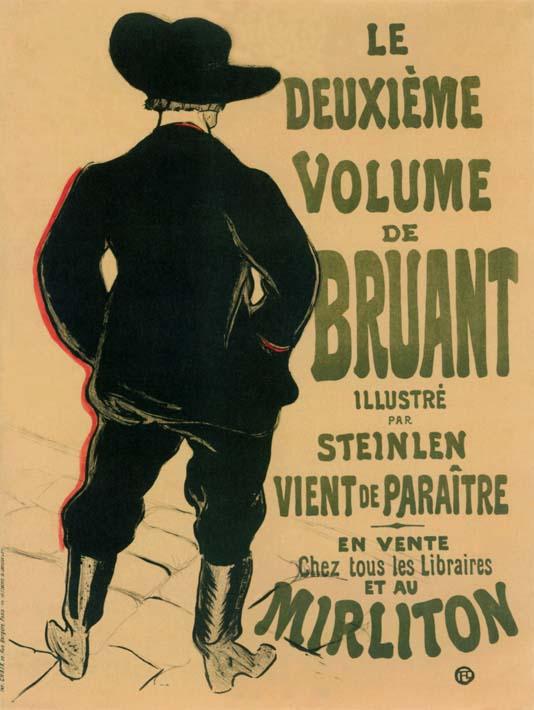 Henri de Toulouse Lautrec Aristide Bruant at the Mirliton stretched canvas art print