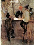 Henri De Toulouse Lautrec At The Bar canvas prints