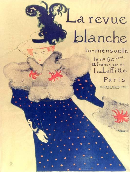 Henri de Toulouse Lautrec Misia Natanson Poster for la Revue Blanche stretched canvas art print