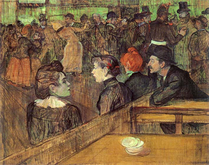 Henri de Toulouse Lautrec The Moulin de la Galette stretched canvas art print