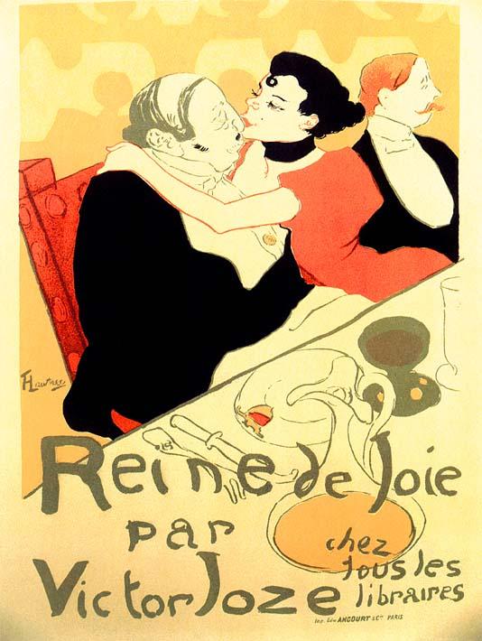 Henri de Toulouse Lautrec Reine de Joie par Victor Joze stretched canvas art print