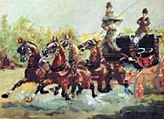 Henri de Toulouse Lautrec Count Alphonse de Toulouse Lautrec Driving his Mail Coach