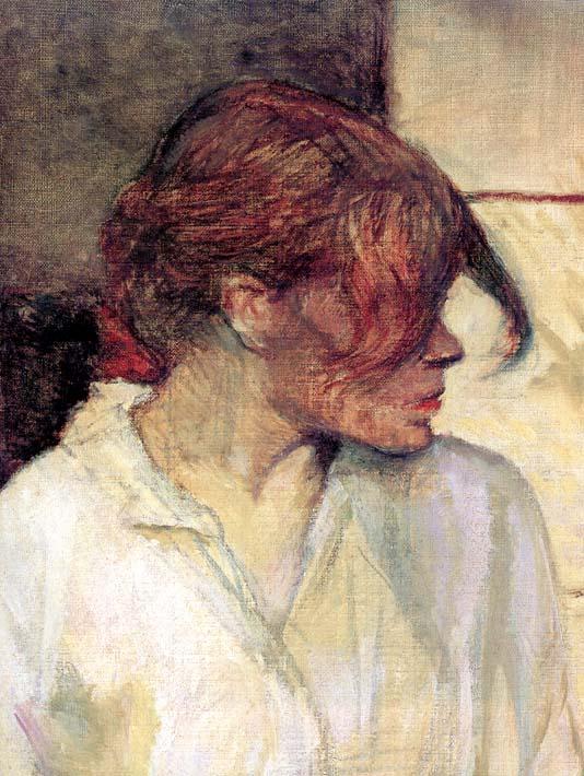 Henri de Toulouse Lautrec Rosa la Rouge (detail) stretched canvas art print