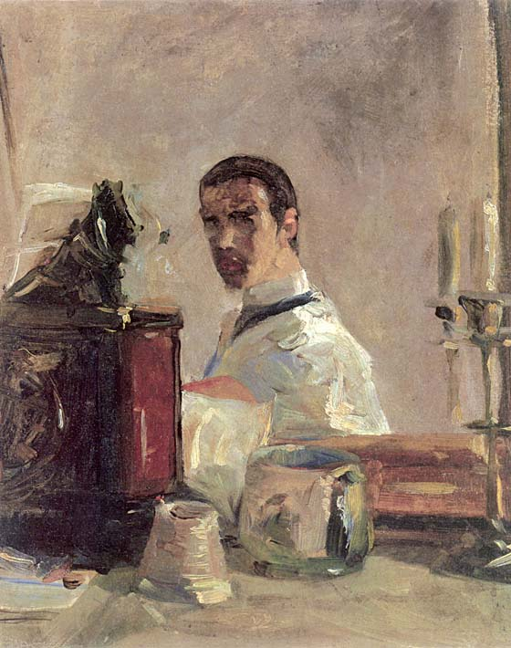 Henri de Toulouse Lautrec Henri de Toulouse Lautrec Self Portrait stretched canvas art print