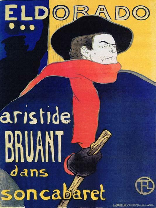 Henri de Toulouse Lautrec Eldorado Aristide Bruant stretched canvas art print