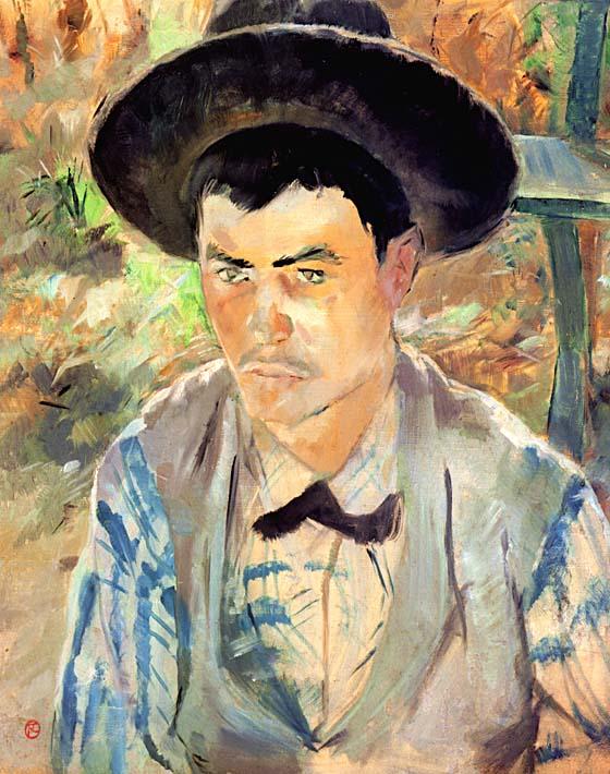 Henri de Toulouse Lautrec Study for a Young Routy stretched canvas art print