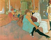 Henri De Toulouse Lautrec In the Salon of the Rue des Moulins