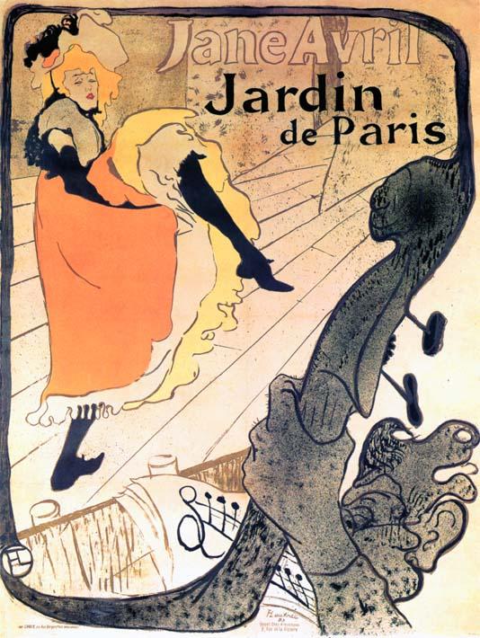 Henri de Toulouse Lautrec Jane Avril Dancing stretched canvas art print