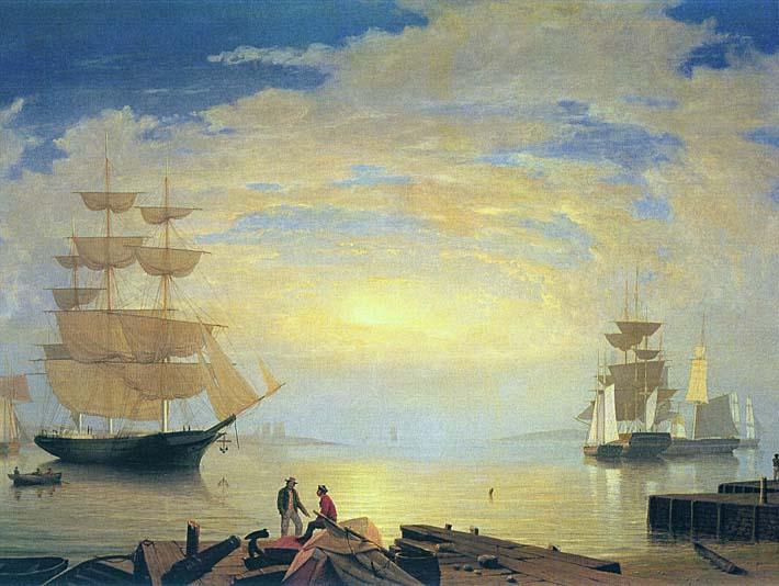 Fitz Hugh Lane Gloucester Harbor At Sunrise stretched canvas art print